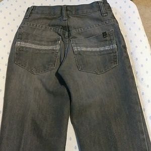 Grey stone washed jeans